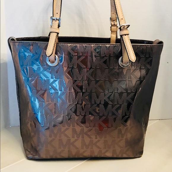 28a5928e5eeb Michael Kors Bags | Mirror Metallic Silver Tote Bag | Poshmark